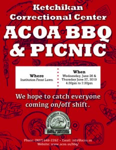 KCC ACOA BBQ @ Ketchikan Correctional Center | Ketchikan | Alaska | United States